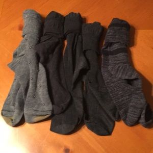 5 pair of lightly used gray socks very nice